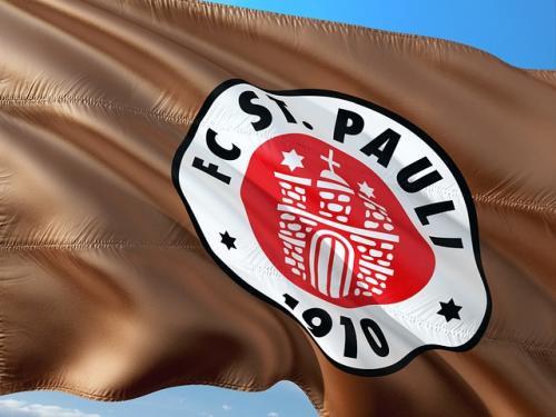 Fussball Flagge von St. Pauli